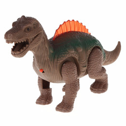 Discount toy walking dinosaurs - Mighty Electric Walking With Sound Dinosaur Toys Animals Model Toys For Kids