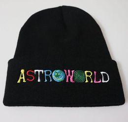 Astroworld Tricoté Skull Caps 8 couleurs Chapeaux de mode Hip Hop Lettre Bonnet brodé unisexe Casquettes d'hiver en Solde