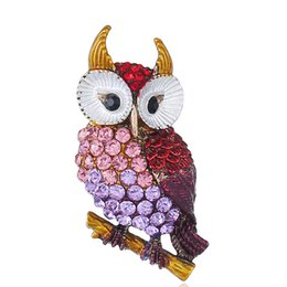 6cc747ce8 New Lady's Clothing Accessories Fashion Owl Crystal Brooch Exquisite  Dripping Animal Brooch Striking Vintage Bird Brooch