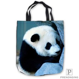 $enCountryForm.capitalKeyWord Australia - Custom Canvas cute-baby-panda- Tote Shoulder Shopping Bag Casual Beach HandBag Daily Use Foldable Canvas #180713-03-22