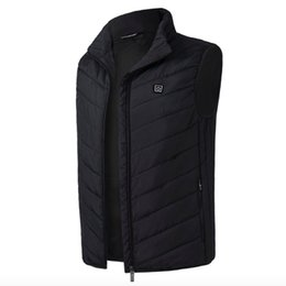 Electric Hot Warmer Australia - 2018 New Men Women Electric Heated Vest Heating Waistcoat Thermal Warm Clothing Feather Hot Sale Winter Jacket