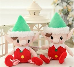 Wholesale Originality Lovely Cartoon Merry Christmas Elves Plush Toy Doll Festival Party Santa Claus Gift Wedding Ceremony Favor jj gg