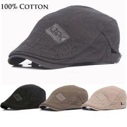 Cotton Berets For Women Australia - Spring Autumn Sun Hats for Men Classic Western Newsboy Caps Woman Cotton Blend Ivy Caps Flat Brim Adjustable Men Beret Cap