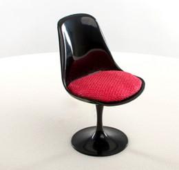 Toy Furniture Wholesale NZ - 1:6 Mini Plastic Tulip Chair Dollhouse Miniature Furniture Kit Accessories