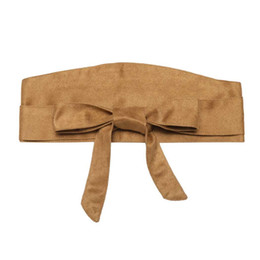 Band Belts UK - Band Casual Solid Sash Belt Wrap Suede Waist Women Belt