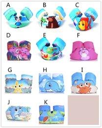 Vente en gros Enfants dessin animé gilet de sauvetage cavalier gilet de sauvetage mignon crabe panda ours modèles de poissons gilet de sauvetage pour les enfants 2-7T 14-25kg