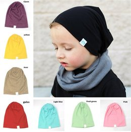 Wholesale Hot sale colors fashion children Knitted hat Pure color Baby Hats soft Crown Hats Ears Cover T3I0348