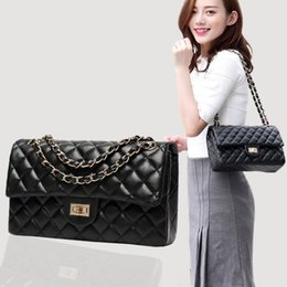 real designer handbags for Canada - Luxuru Crossbody Bags For Women Real leather Brand Chain Bag Womens Diamond Lattice Pu Leather Handbag Women'S Designer Bolsa Feminina