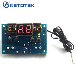 Thermostat Controller Canada - -9-99C DC 12V Intelligent digital display thermostat Temperature controller With NTC sensor FREE SHIPPING F0012