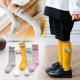 41af87bda0b Infant knee hIgh socks online shopping - Baby Girls Bowknot Long Stockings  Infants Ruffled Uniform Knee