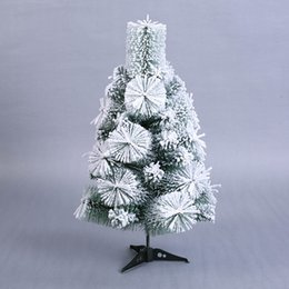 hot sale new year decor christmas pine trees 60cm artificial flocking snow christmas tree xmas festival party home decoration inexpensive snowing christmas - Snowing Christmas Decoration