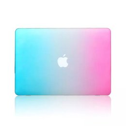 macbook pro 13 matte case 2019 - Rainbow Colorful Full Protective Laptop Cover for Macbook Pro 15-inch Retina Fashion Matte Protector Hard Case cheap mac