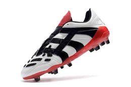 new style 2e70d 6b6f9 Botas de fútbol originales Botines de fútbol Predator Acelerador  Electricidad FG 98 Botas de fútbol clásicas Messi Blanco Negro Zapatilla de  deporte