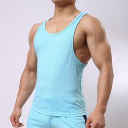 $enCountryForm.capitalKeyWord Australia - 5 Color Mens Sleeveless Tee Shirts Singlet Y Back Tank Tops Undershirts Trainer Bodybuilding Clothing Vest for Male Leisurewear