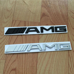 Sl mercedeS online shopping - Car Tail Logo Emblem D ABS Chrome Silver Black AMG Badge Sticker For Mercedes Trunk Rear Decal BZ SL SLK Class CLK