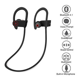 Iphone Stereo Player Australia - 10X Q6 Bluetooth Sports Running Headphone Stereo Wireless Headset With Mic Handfree For Iphone Android Phones MP3 Music Player Free Shipping