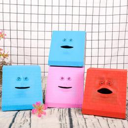 Box eat online shopping - 6 Styles Face Bank Cartoon Face Piggy Bank Eat Money Save Pot Saving Coin Box Children Creative Christmas Gift CCA10762