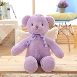 Wholesale Cute winged angel teddy bear Stuffed Plush Toys doll cm cm cm baby appease doll toy for children girls birthday gifts
