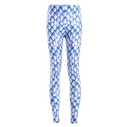 New Sexy Girl Women Leggings Plus Size Femme Pencil Pant Retro Blue Dragon  Scales Prints Slim Elastic Fitness Leggings 3621 a01d7b5b81d0