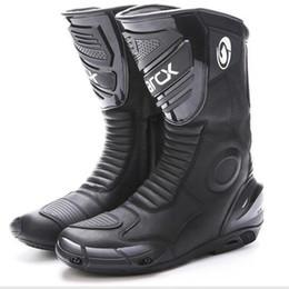 $enCountryForm.capitalKeyWord NZ - Motorcycle waterproof Boots Real Leather Motorbike Motocross Racing Boots Protector Gear Motor Bike wear Reflective Shoes