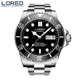 $enCountryForm.capitalKeyWord Canada - 2018 New LOREO Mens Watches Top Brand Luxury Sapphire Glass Waterproof Luminous Watches Men Automatic Mechanical Wrist