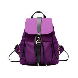 3693b96479 Women PU Packages Shoulder Bag Waterproof Nylon Backpack Fashion Handbags  Casual Diagonal Lady Cross Body New Female Package