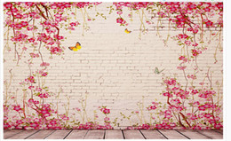 $enCountryForm.capitalKeyWord UK - Custom 3d Photo Wall paper Original pastoral vine pink tile background wall Home Decor Living Room Wall Covering