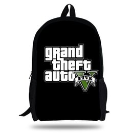 cfb2309b6ab9 2018 Newest Backpack Grand theft auto Game Printing Children School Bags  Boys Teenage Girls GTA 5 PC Game Casual Backpacks