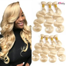 $enCountryForm.capitalKeyWord UK - 8A Brazilian Body Wave Hair 3 Bundles Blonde Full 613 Color 100% Human Hair Bundles Brazilian Peruvian Virgin Body Remy Hair Extensions