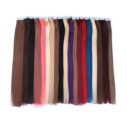 pu weft hair extensions 2019 - Skin Weft PU Tape In Human Hair Extensions 100% Brazilian Silky Straight Human Hair 40 Pieces 100g G-EASY discount pu we