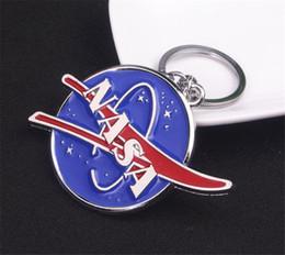 Nova NASA Logotipo Do Metal Chaveiro Keyfob Titular Chaveiro Anel Chave Cosplay Presente Toy Halloween Cosplay Chaveiro Pingente venda por atacado