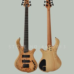 $enCountryForm.capitalKeyWord NZ - Top quality factory custom Mayones bass 5 strings rotten tree scar electric bass with ash body musical instument shop