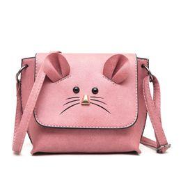 A nova pequena bolsa quadrada tendência high school menina sacos senhora  bolsa de ombro do rato preto rosa verde cinza marrom 4dd2e547a84