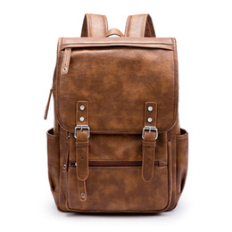 b1d5a63396 Cool Fashion Waterproof 15.6 Inch Laptop Backpack Leather Backpacks For  School Teenager Men Casual Day Use Male