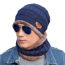 470f2275 Unisex Winter Hats Warm Fleece Liner Neck Warmer Ring Scarf And Knitted  Beanie Hats For Men Women Gorro Bonnet Hat And Scarf Set