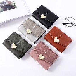 $enCountryForm.capitalKeyWord NZ - 2018 Fashion letter Women Designer Heart-shaped Wallet Small hasp Change Coin Purse Hot Female Clutch For Girls 5 Colors 1015