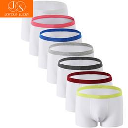 $enCountryForm.capitalKeyWord Australia - Men's Underwear 7 pcs lot Boxers Men Cotton White Male Underpants Cuecas Shorts Soft Boxer Mens Underwear Soft Corners Belts
