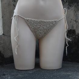 $enCountryForm.capitalKeyWord NZ - custom made Beige Handmade crochet Celestial bathing Mini trunks Mini bikini swimwear Pants Custom G-string shorts Sexy Lingerie Thong