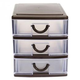 Organizer Storage Drawers Canada - Mini 2 3 4 Layers Desktop Drawer Storage Box Sundries Case Small Objects Cosmetics Box Wholesale Desktop Organizer