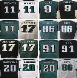 47d9f7850 Elite Philadelphia Eagles jerseys Men s 11 Carson Wentz 86 Zach Ertz 9 Nick  Foles Jersey 20 Brian Dawkins 17 Jeffery 91 Cox jersey
