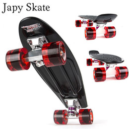 $enCountryForm.capitalKeyWord Canada - Wholesale-Japy Skate 22 Inches Four-wheel Street Long Skate Board Mini Cruiser Fish Skateboard With 9 Colors For Adult Children
