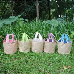 Gift basket bags wholesale online gift basket bags wholesale for easter gift bags bunny rabbit ears bag linen canvas storage bags burlap rabbit easter basket christmas party favors cca8778 50pcs negle Image collections