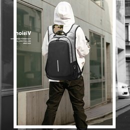 Travel lapTop charger online shopping - Unisex Multi functional Cipher Lock Anti Theft Backpack Water Proof USB Charger Port Notebook Laptop School Business Travel Bag