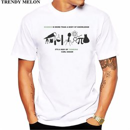 5f3a53de Trendy Melon Letters T-shirt Men Carl Sagan Science Quote T shirt Funny Tops  Casual White Short Sleeve Tees Hipster MAB05