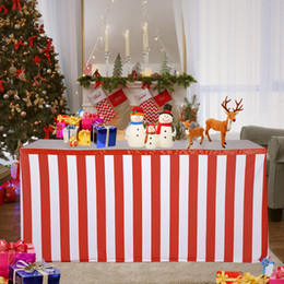 $enCountryForm.capitalKeyWord NZ - Classical red and white striped christmas table skirt wedding tablecloth cover table skirts for wedding decoration banquet table skirts