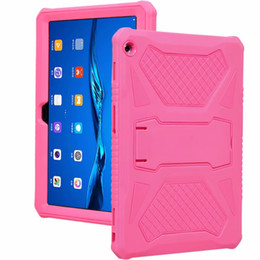$enCountryForm.capitalKeyWord NZ - Silicone Case Hard PC Shockproof Heavy Duty Armor Back Cover for Huawei HDN-W09 HDN-L09 Honor Waterplay 10.1 Tablet