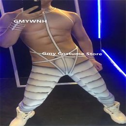 $enCountryForm.capitalKeyWord Australia - E06 Ballroom pole dance male stage costumes dj wears bodysuit muscle jumpsuit men outfits tight performance model dress printing clothing dj