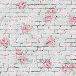 Discount vinyl backdrops bricks - Mehofoto Seamless Vinyl Photography Background Flower Brick Backdrops Computer Children backdrop for photo Studio S-1384