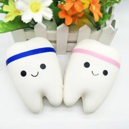 teeth phone 2019 - Adorable Teeth Squishy Soft Pu Slow Rising Teeth Original Package Phone Handbag Pendant Squeeze Toy For Kids cheap teeth