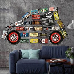 retro home bars 2018 - 59 styles Car Metal License Plate Beer Garage Warning Motor Vintage Craft Tin Sign Retro Metal Painting Poster Bar Pub W